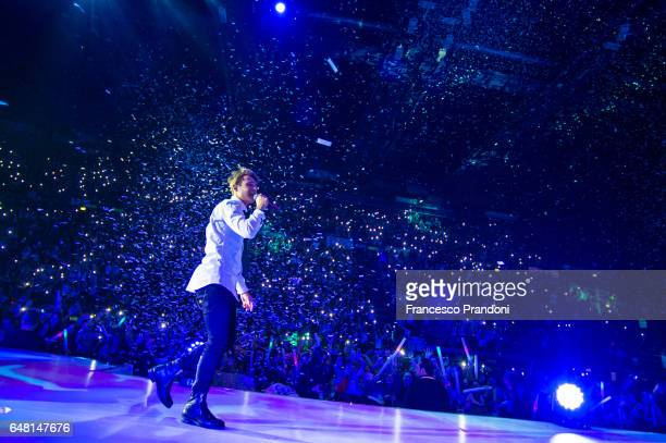 Fede of Benji Fede Performs at Mediolanum Forum on March 4 2017 in Milan Italy