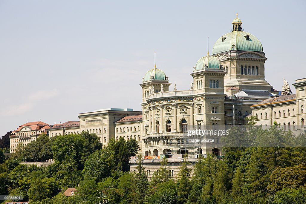 Federal building in berne switzerland