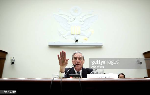 Federal Bureau of Investigation Director Robert Mueller testifies during a hearing before the House Judiciary Committee June 13 2013 on Capitol Hill...