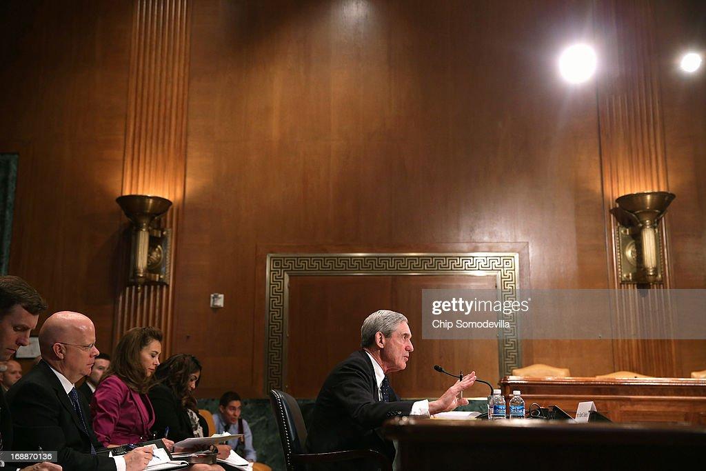 FBI Director Mueller Testifies At Senate Hearing On FY2014 Budget