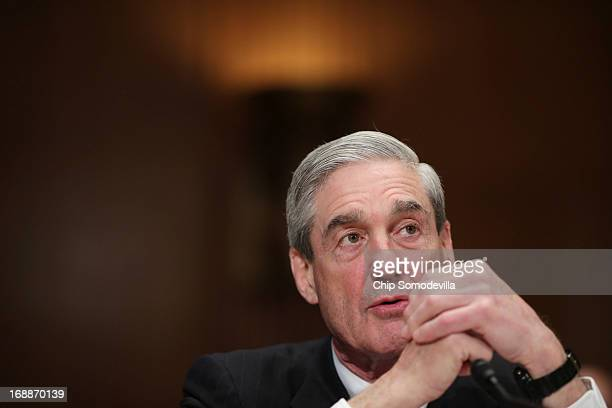Federal Bureau of Investigation Director Robert Mueller testifies before the Senate Appropriations Committee's Commerce Justice Science and Related...