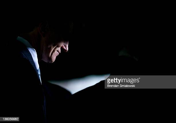 Federal Bureau of Investigation Director Robert S Mueller III leaves after a memorial service for the Pan Am Flight 103 Lockerbie bombing at...