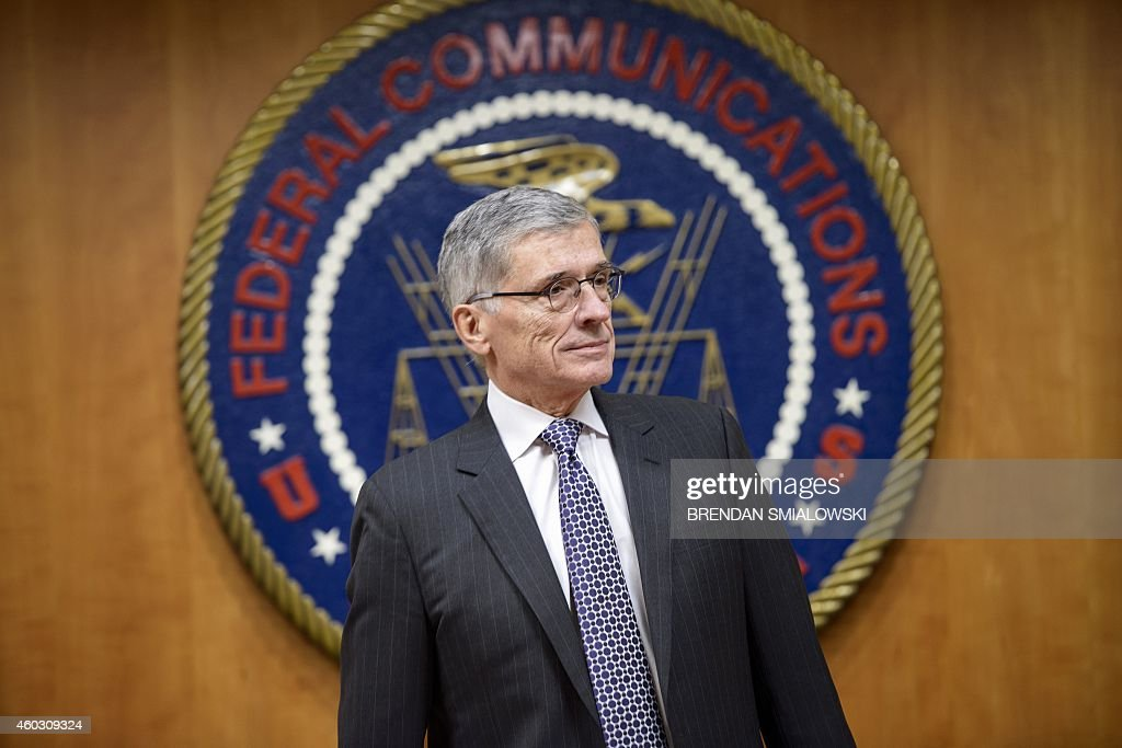 Federal Communication Commission Chairman Tom Wheeler waits for a hearing at the FCC December 11 2014 in Washington DC AFP PHOTO/BRENDAN SMIALOWSKI