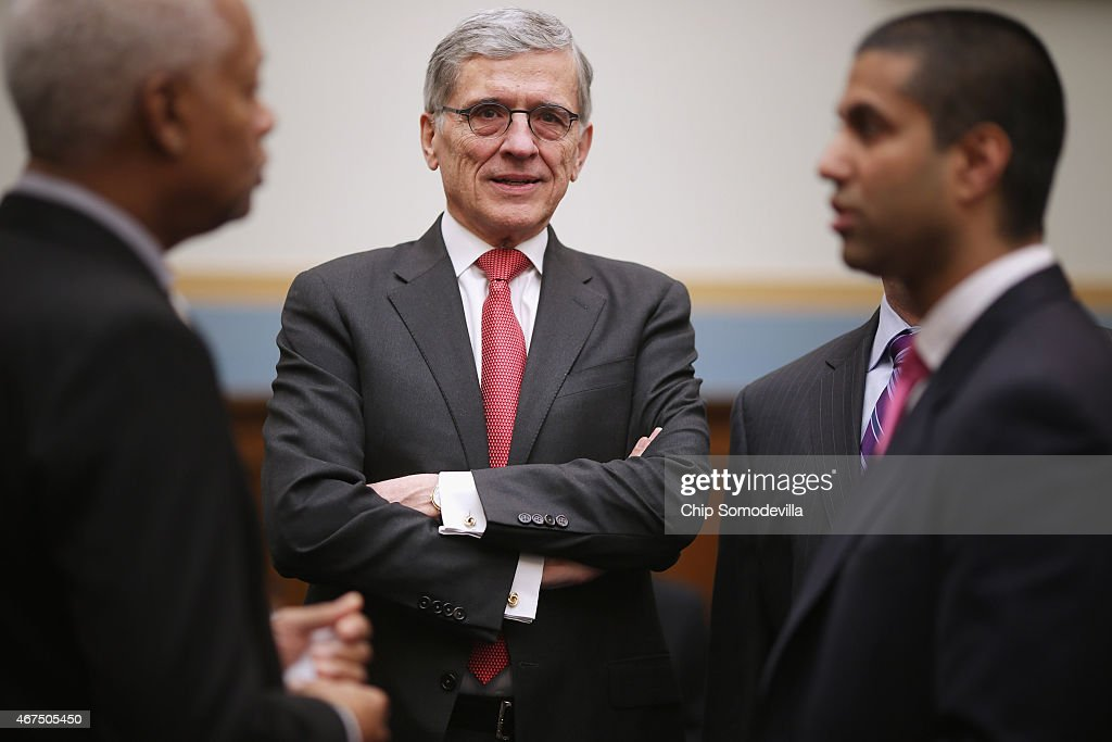 Federal Communications Commission Chairman Tom Wheeler prepares to testify before the House Judiciary Committee in the Rayburn House Office Building...