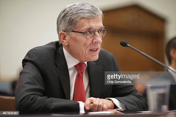 Federal Communications Commission Chairman Tom Wheeler testifies before the House Judiciary Committee in the Rayburn House Office Building on Capitol...