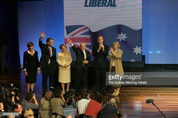 Federal Election Campaign 2004 Day 29 Coalition Liberal Party and National Party Federal Election Campaign Launch at City Hall Brisbane Queensland on...