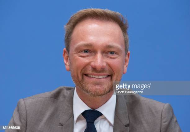 Federal elections 2017 Federal press conference the day after the election Christian Lindner Federal chairman of the Free Democratic Party