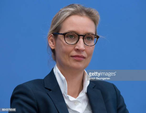 Federal elections 2017 Federal press conference the day after the election Alice Weidel Alternative for Germany