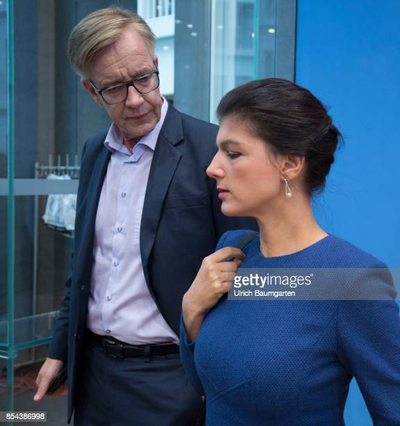Federal elections 2017 Federal press conference the day after the election Dietmar Bartsch and Sahra Wagenknecht party The Left