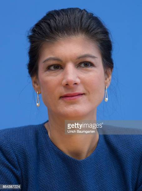 Federal elections 2017 Federal press conference the day after the election Sahra Wagenknecht Chairwoman of the Group The Left in the German Bundestag