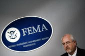 Federal Emergency Management Agency Administrator William Craig Fugate holds a news conference shortly after being sworn in at FEMA headquarters May...