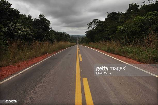 Federal highway BR222 is seen on June 9 2012 in Para state Brazil Highway construction through Amazonian rainforest has led to accelerated rates of...