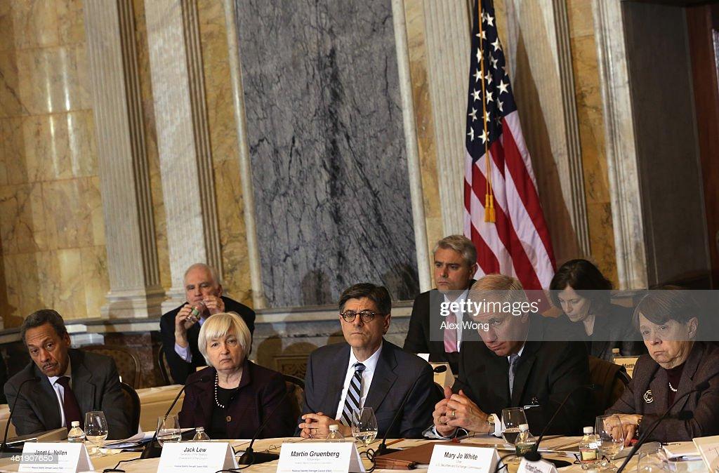 Federal Housing Finance Agency Director Melvin Watt Federal Reserve Board Chair Janet Yellen US Secretary of the Treasury Jacob Jew Federal Deposit...