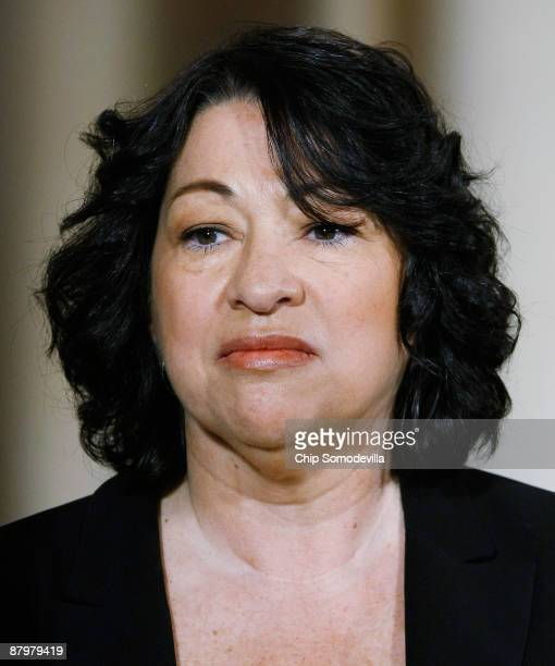 Federal Judge Sonia Sotomayor stands as she is named by US President Barack Obama as his choice to replace retiring Justice David Souter on the...