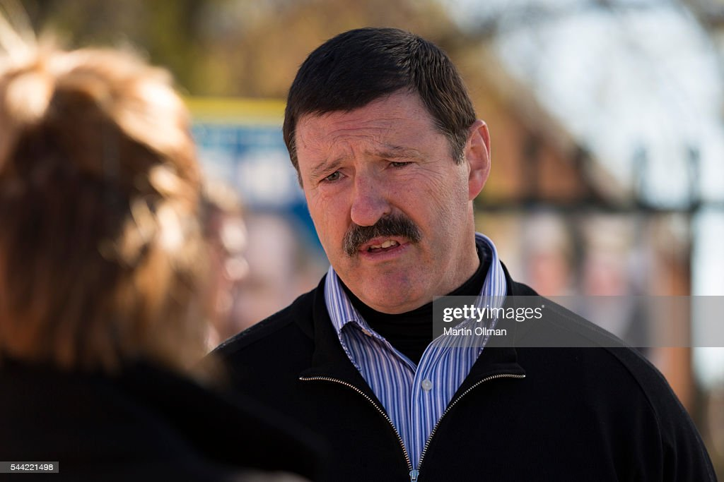 Federal Labor's candidate for Eden Monaro Mike Kelly talks to the media in the electorate of Eden-Monaro on July 2, 2016 in Canberra, Australia. Voters head to the polls today to elect the 45th parliament of Australia.