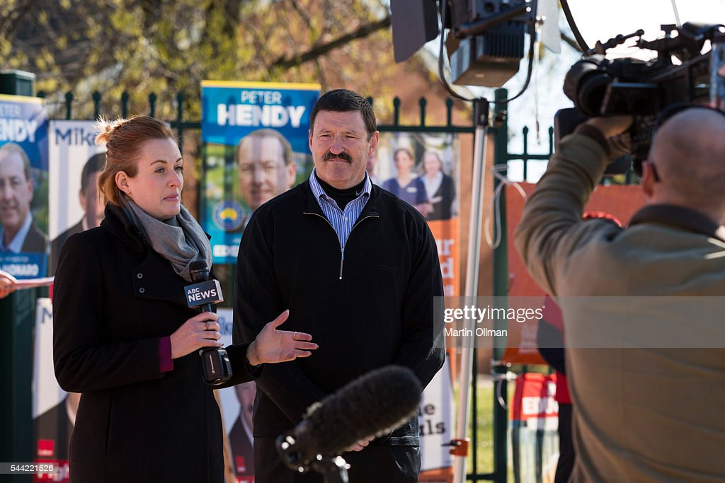 Federal Labor's candidate for Eden Monaro Mike Kelly talks to the media in the electorate of Eden-Monaro on July 2, 2016 in Canberra, Australia. Voters head to the polls today to elect the 45th parliament of Australia. .