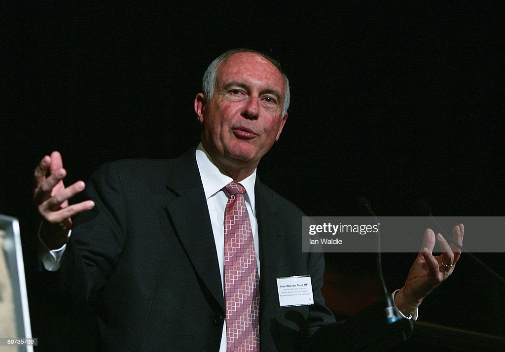 Federal leader of the National Party Warren Truss speaks at the Brendan Nelson Tribute Dinner, controversially hosted by The National Party, at Four Seasons Hotel on May 8, 2009 in Sydney, Australia. The former Liberal Party and Opposition Leader retired in February from the Liberal Party, who are unlikely to receive any funds raised from this evening's tribute dinner due to the hosting of it by The National Party.