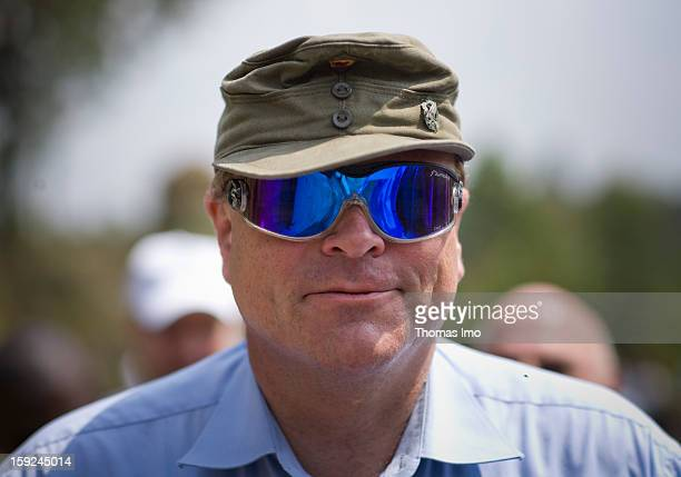 Federal Minister for Economic Cooperation and Development of Germany and member of the Free Democratic Party Dirk Niebel visiting a Wolfram Mine of...