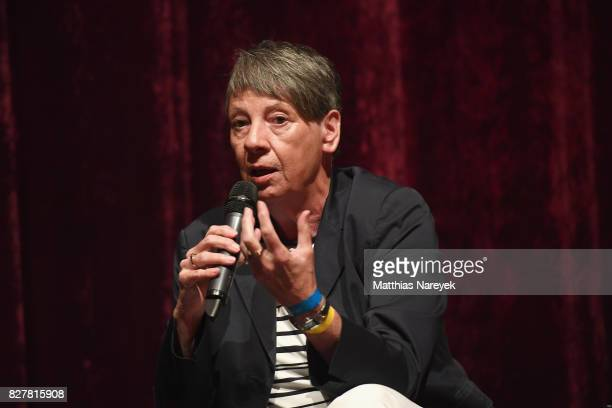 Federal Minister of the Environment Barbara Hendricks speaks on stage at a QA after a special screening of 'An Inconvenient Sequel Truth to Power' at...