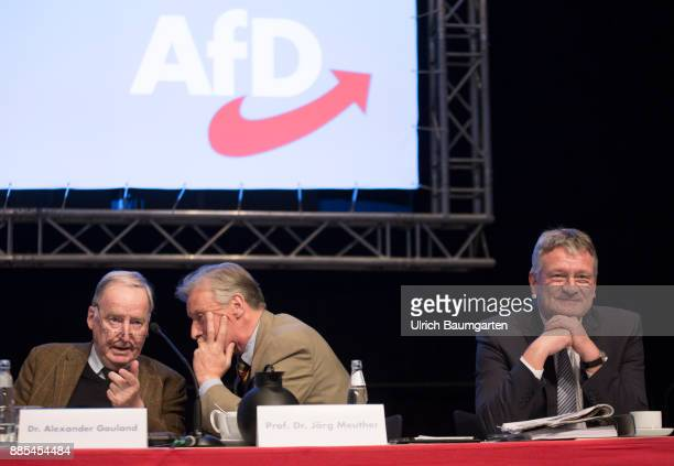 Federal Party Congress of Alternative for Germany Alexander Gauland ArminPaul Hampel and Joerg Meuthen