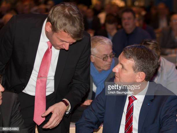 Federal Party Congress of Alternative for Germany Andre Poggenburg and Bjoern Hoecke