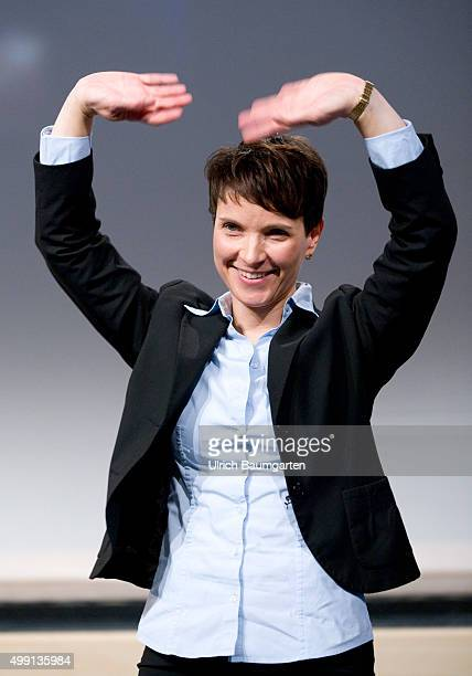 Federal Party of the party Alternative for Germany in Hanover Dr Frauke Petry spokeswoman of the AfD beckoning after her speech