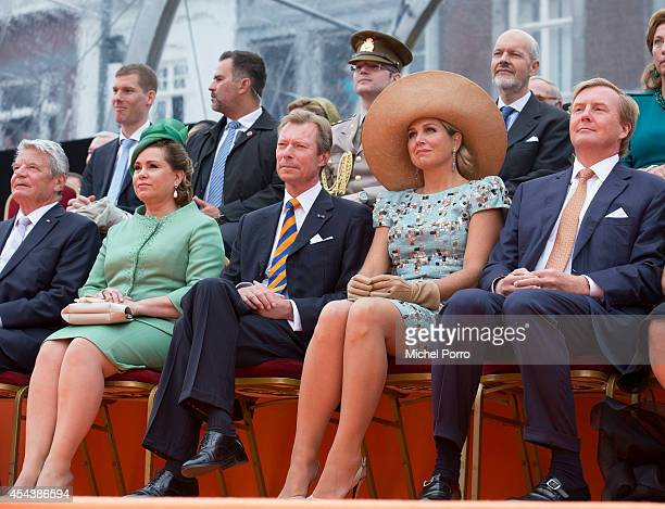 Federal President of Germany Joachim Gauck Grand Duchess Maria Teresa of Luxembourg Queen Maxima of The Netherlands and King WillemAlexander of The...