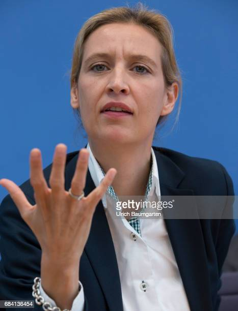Federal Press Conference in Berlin Alice Weidel top candidate of the AfD for the federal elections 2017