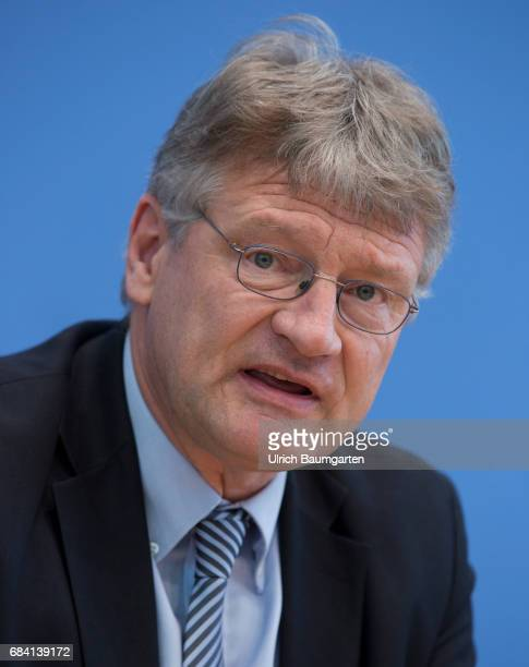 Federal Press Conference in Berlin Joerg Meuthen spokesman of the AfD