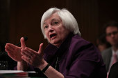 Federal Reserve Board Chair Janet Yellen testifies during a hearing before Senate Banking Housing and Urban Affairs Committee July 16 2015 on Capitol...
