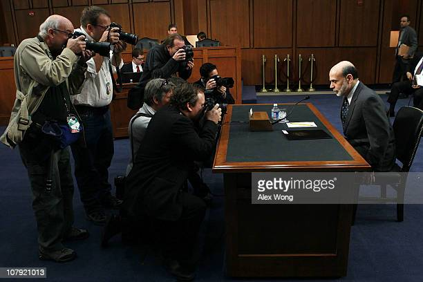 Federal Reserve Board Chairman Ben Bernanke arrives for a hearing before the Senate Budget Committee January 7 2011 on Capitol Hill in Washington DC...