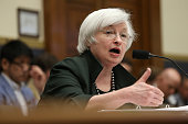 Federal Reserve Board Chairwoman Janet Yellen testifies before the House Financial Services Committee July 15 2015 in Washington DC Yellen told the...