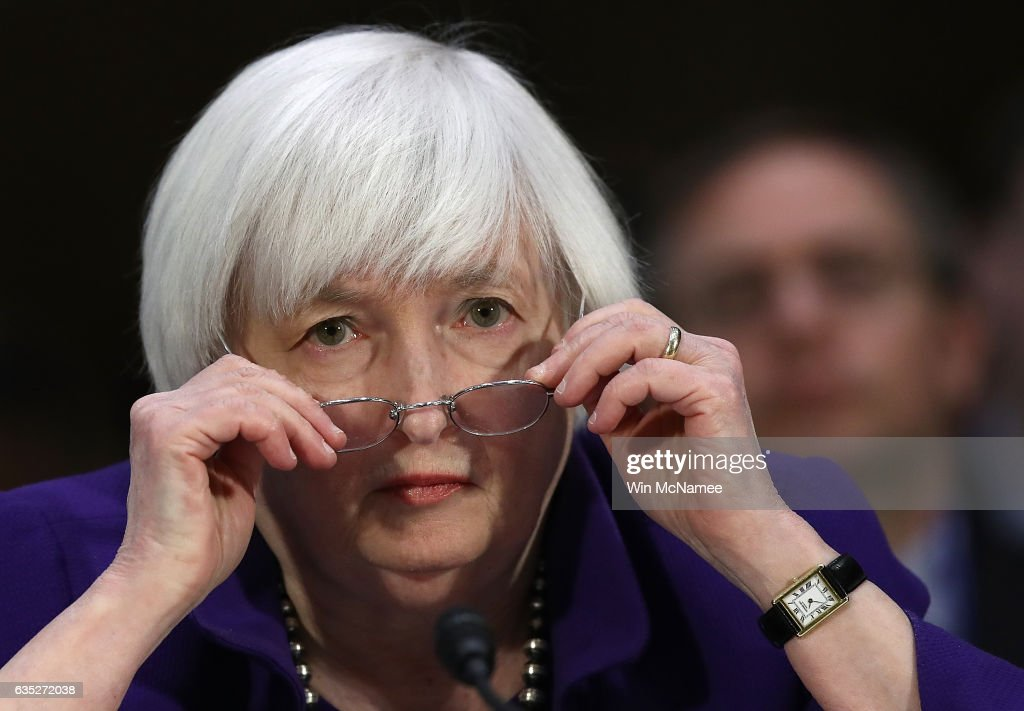 Federal Reserve Chairwoman Janet Yellen Testifies To Senate Committee On Dept's Semiannual Monetary Policy Report