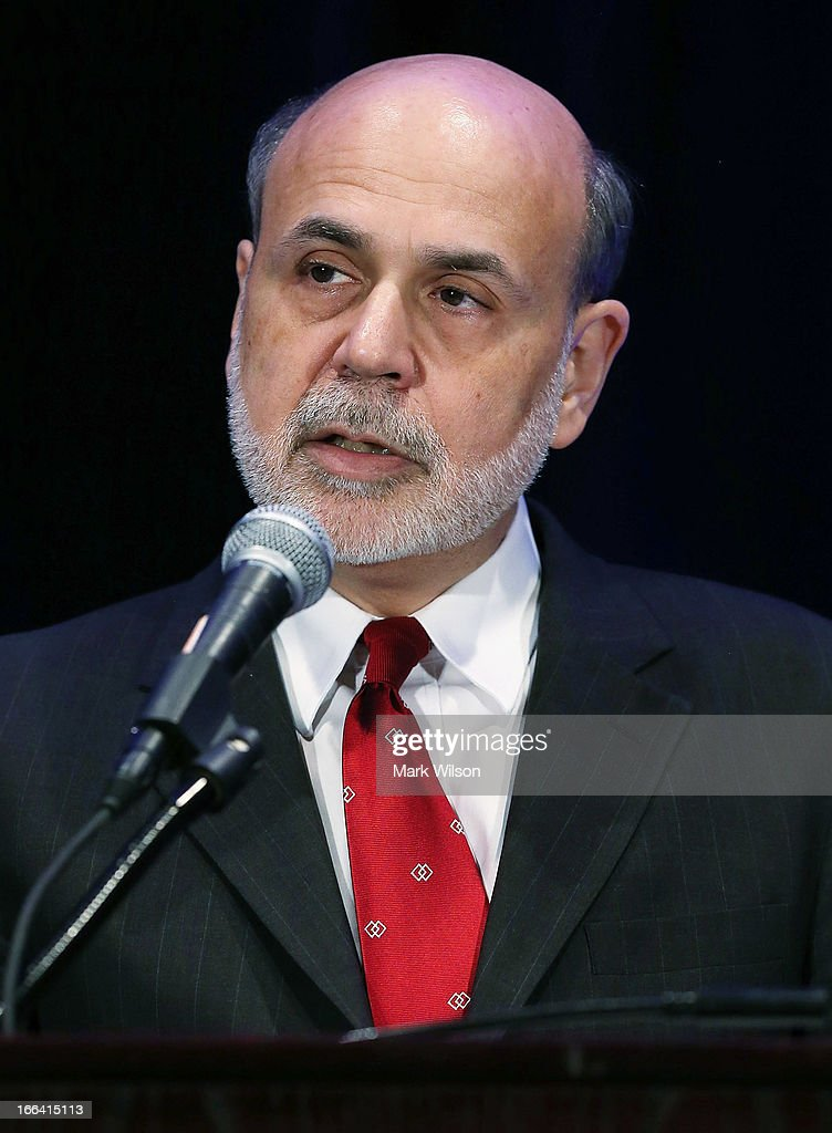 Federal Reserve Board of Governors Chairman Ben Bernanke speaks during a luncheon at the Renaissance Hotel, April 12, 2013 in Washington, DC. Chairman Bernanke was the keynote speaker at the 2013 Community Development Research Conference, hosted by the Federal Reserve Bank of Atlanta.