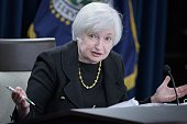 Federal Reserve Chair Janet Yellen speaks at the Federal Reserve's Wilson Conference Center September 17 2015 in Washington DC The Federal Reserve...