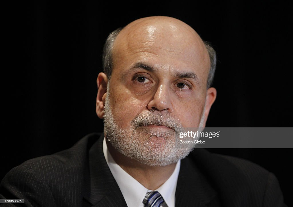 Federal Reserve Chairman Ben Bernanke speaks at the Sonesta Hotel in Cambridge, Mass., July 10, 2013.