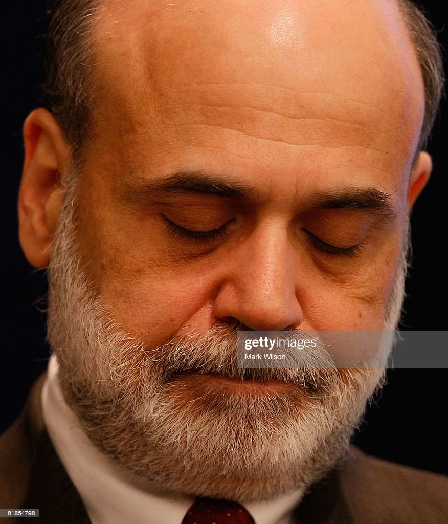 Federal Reserve Chairman Ben Bernanke speaks at the The Federal Deposit Insurance Corporation July 8, 2008 in Arlington, Virginia. Bernanke was speaking to a forum at on mortgage lending for low and moderate income households.