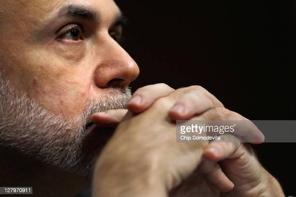 Federal Reserve Chairman Ben Bernanke testifies before the US Congress Joint Economic Committee in the Dirksen Senate Office Building on Capitol Hill...
