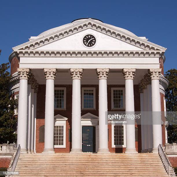 Federalist building with six white columns