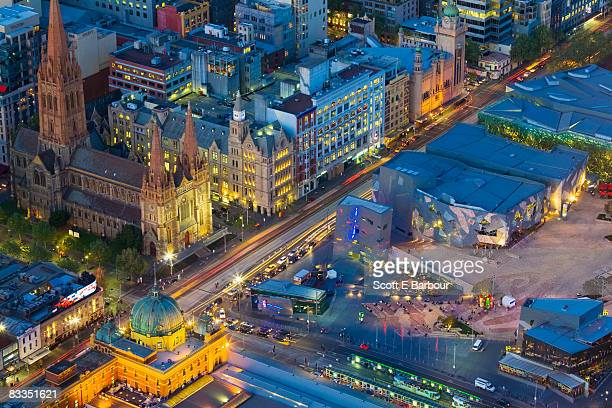 Federation Square and Flinders Street
