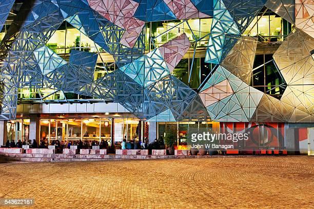 Federation square at night, Melbourne, Australia