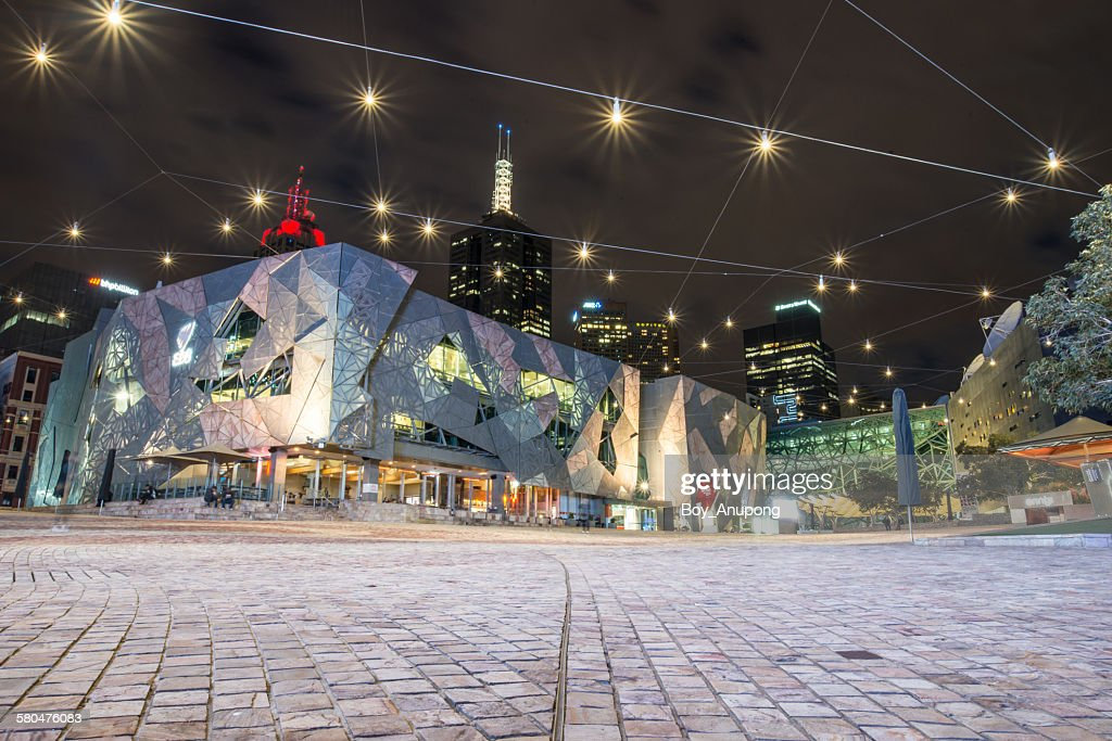 Federation square, Melbourne, Victoria, Australia : Stock Photo