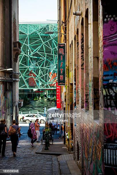 Federation Square, viewed from Hosier Lane