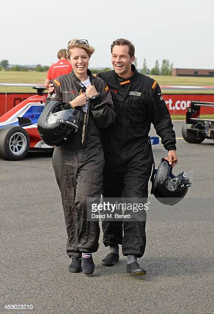 Federica Amati and Paul Sculfor attend the Stride Foundation track day in aid of The Amy Winehouse Foundation at the Bedford Autodrome on August 1...