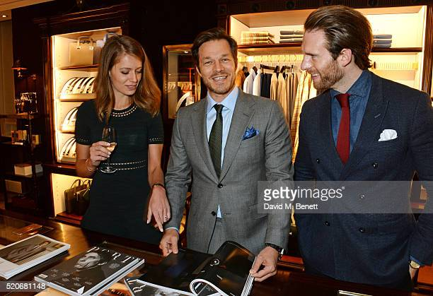 Federica Amati Paul Sculfor and Craig Mcginlay attend PORT Magazine's 5th anniversary dinner with dunhill London at at Alfred Dunhill Bourdon House...