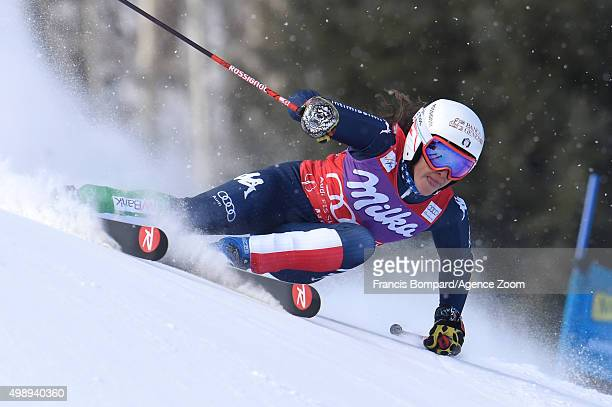 Federica Brignone of Italy competes during the Audi FIS Alpine Ski World Cup Women's Giant Slalom on November 27 2015 in Aspen Colorado