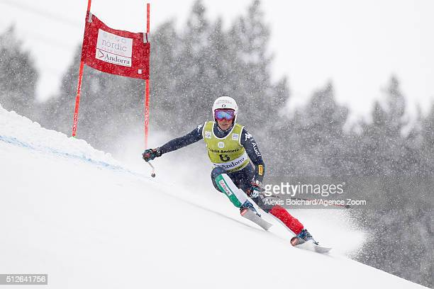 Federica Brignone of Italy competes during the Audi FIS Alpine Ski World Cup Women's SuperG on February 27 2016 in Soldeu Andorra
