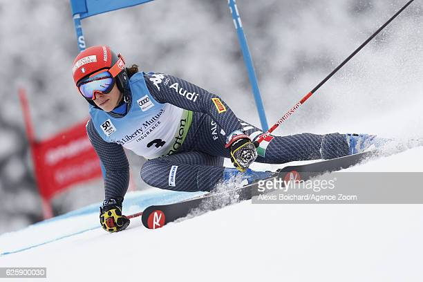 Federica Brignone of Italy competes during the Audi FIS Alpine Ski World Cup Women's Giant Slalom on November 26 2016 in Killington Vermont