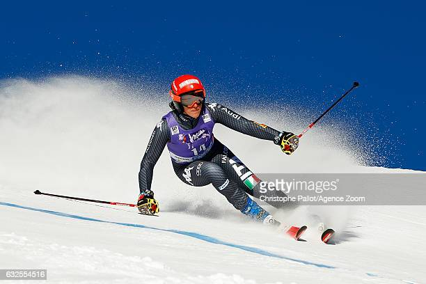 Federica Brignone of Italy competes during the Audi FIS Alpine Ski World Cup Women's Giant Slalom on January 24 2017 in Kronplatz Italy