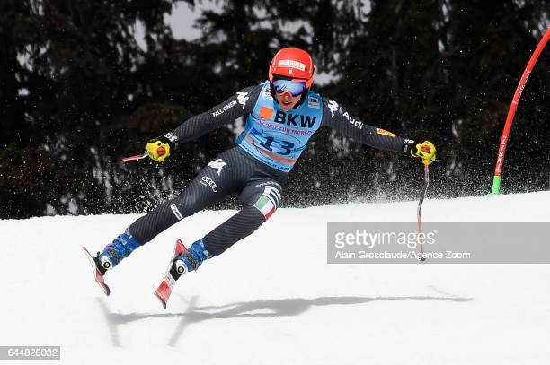 Federica Brignone of Italy competes during the Audi FIS Alpine Ski World Cup Women's Alpine Combined on February 24 2017 in Crans Montana Switzerland